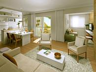 Living apto 74m² - Bosques da Vila - Tecnisa