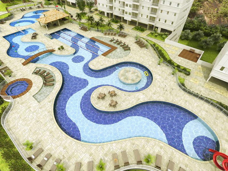 Complexo Aquático - Acqua Play - Tecnisa