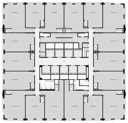 Salas do 11º andar