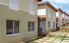 Fachada casas - Bosques da Vila - Tecnisa