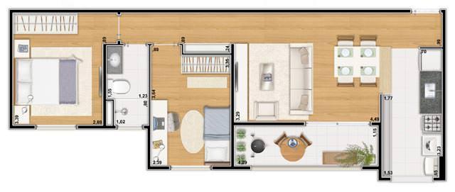 Apartamento 60m²