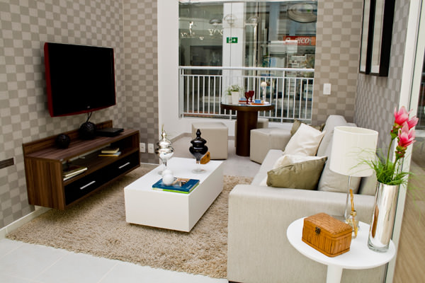 83,94m² - Sala de estar e terraço