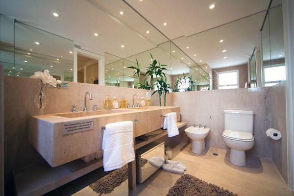 Sólon Vila Rosália  Apartamentos no bairro Vila Rosália em Guarulhos  Tecnisa -> Banheiro Decorado De Casal