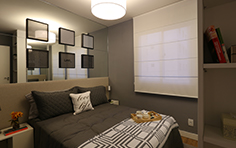 54 m² - Quarto do casal - Flex Imigrantes - Tecnisa