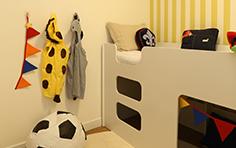 54 m² - Quarto do menino - Flex Imigrantes - Tecnisa