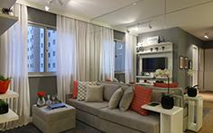 54m² - Sala de estar - Flex Imigrantes - Tecnisa