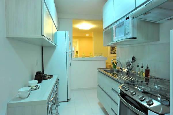 Apto 48,28m Cozinha e área de serviço