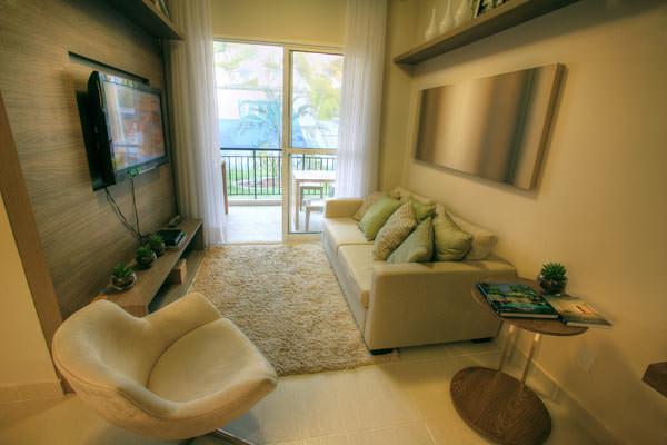 85,90m² - Sala de estar