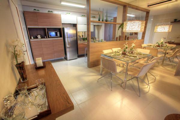 85,90m² - Living e cozinha
