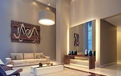 Lobby residencial - Residence Centro Cívico - Tecnisa