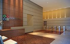 Lobby corporativo - Corporate Centro Cívico - Tecnisa