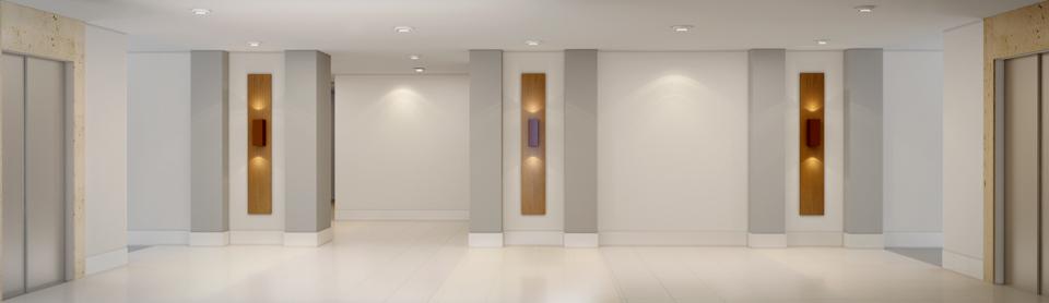 Hall de entrada do subsolo