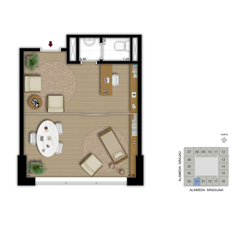32 m² - Consultório