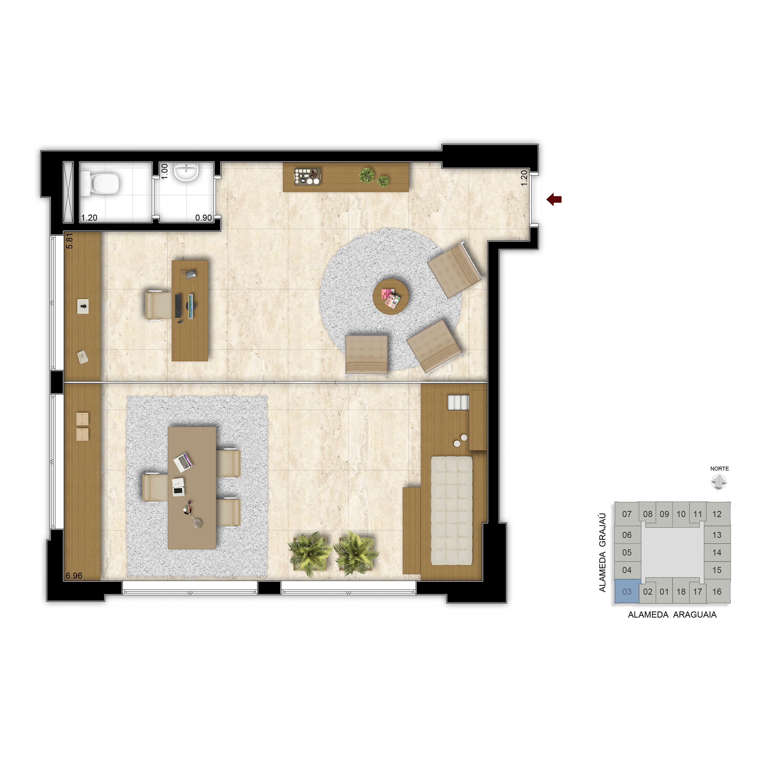 55 m² - Consultório