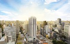 Vista aérea da fachada - HUB - Home - Tecnisa