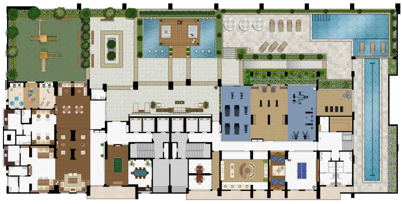 5º Pavimento residencial - Lazer