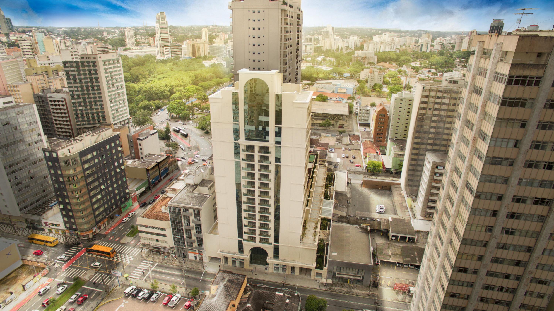 Vista aérea da fachada