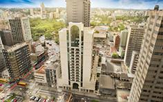Vista aérea da fachada - HUB - Business - Tecnisa