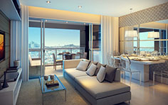 Living apto 71m² - Vista Verde - Tecnisa