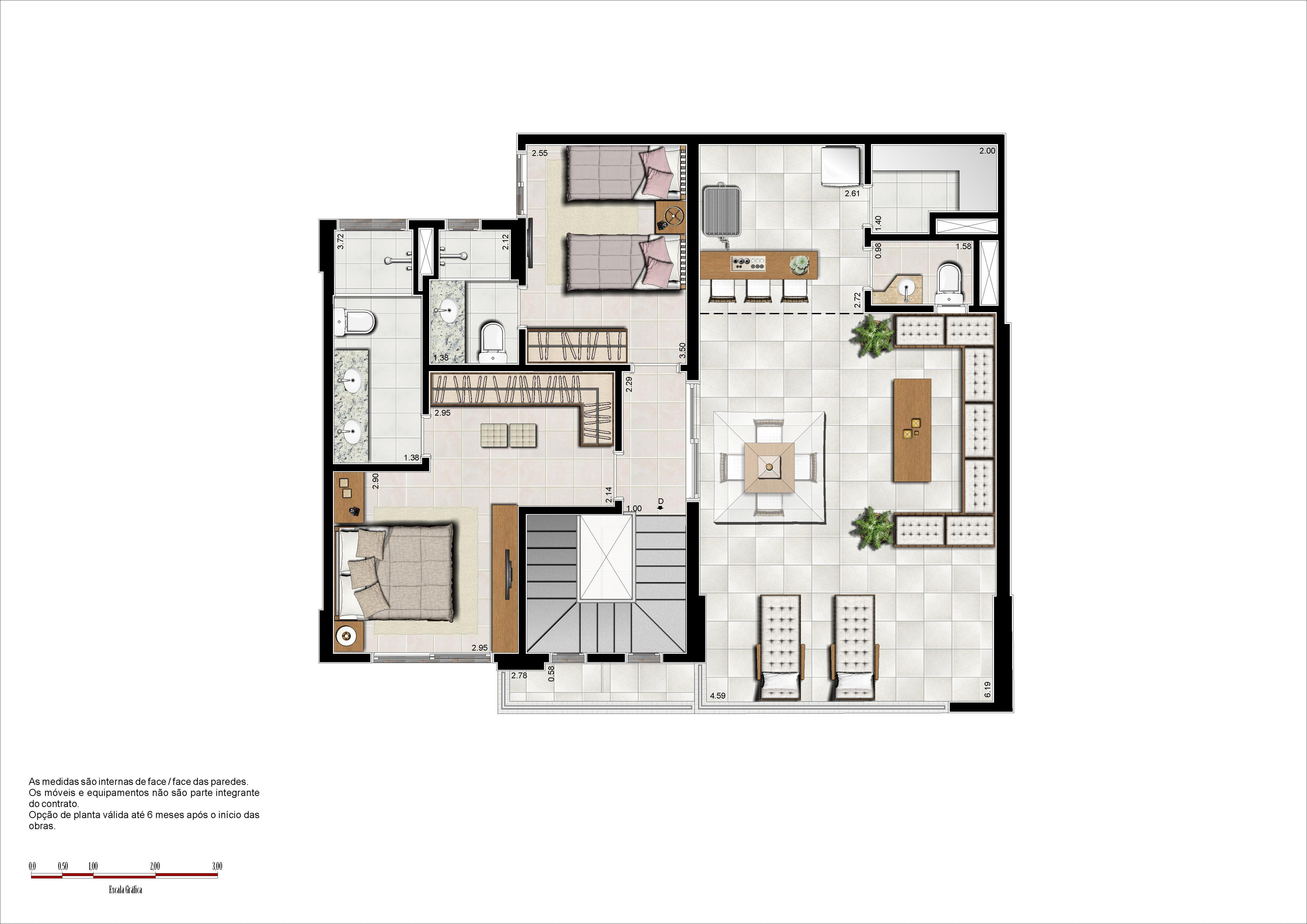 179m² - cobertura superior