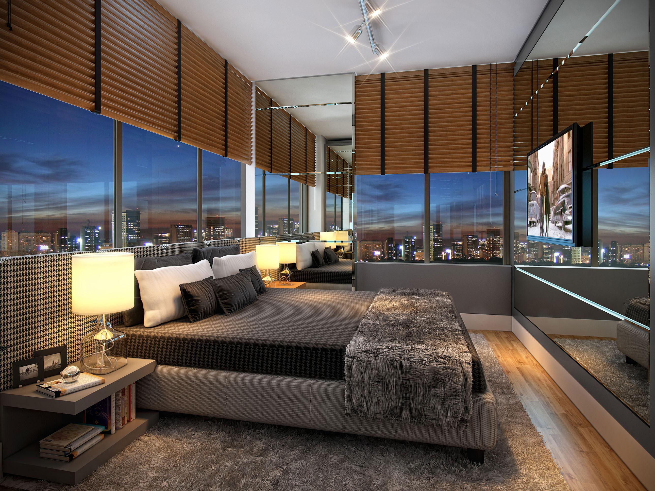 Suíte do apartamento residencial 2 dormitórios de 76,43m²