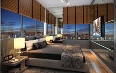 Suíte do apartamento residencial 2 dormitórios de 76,43m² - The Five Home - Tecnisa
