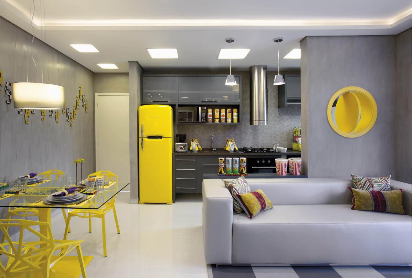 Cozinha e living