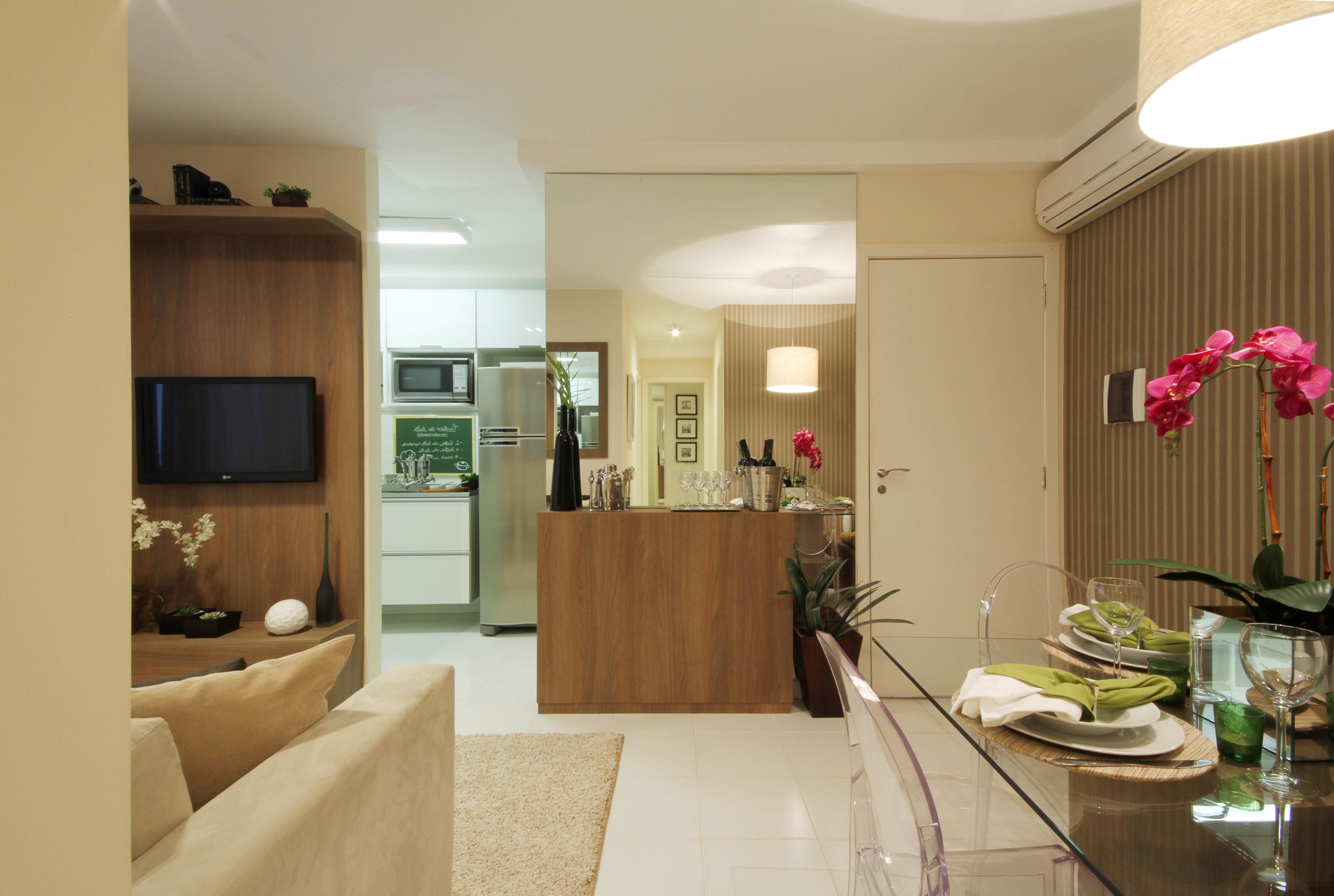 44,4m² Living e Cozinha