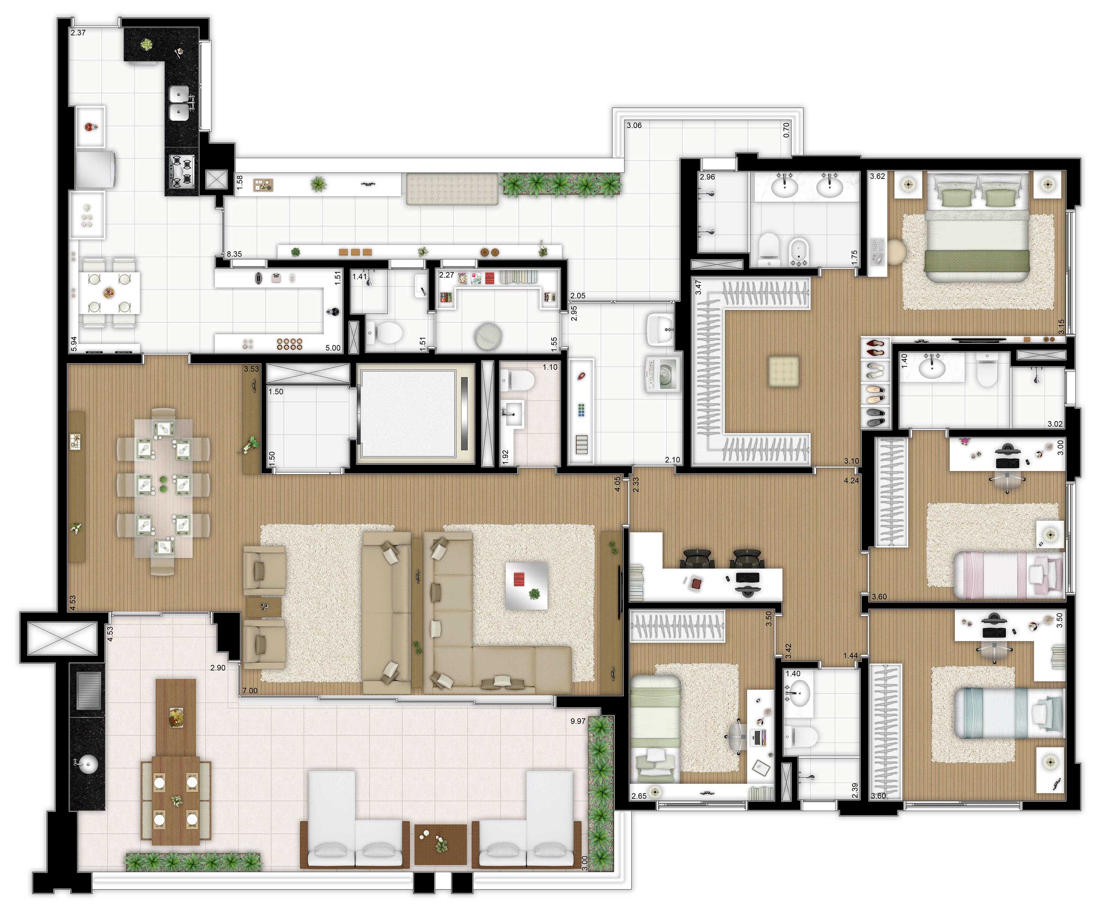241 m² - 4 dormitórios