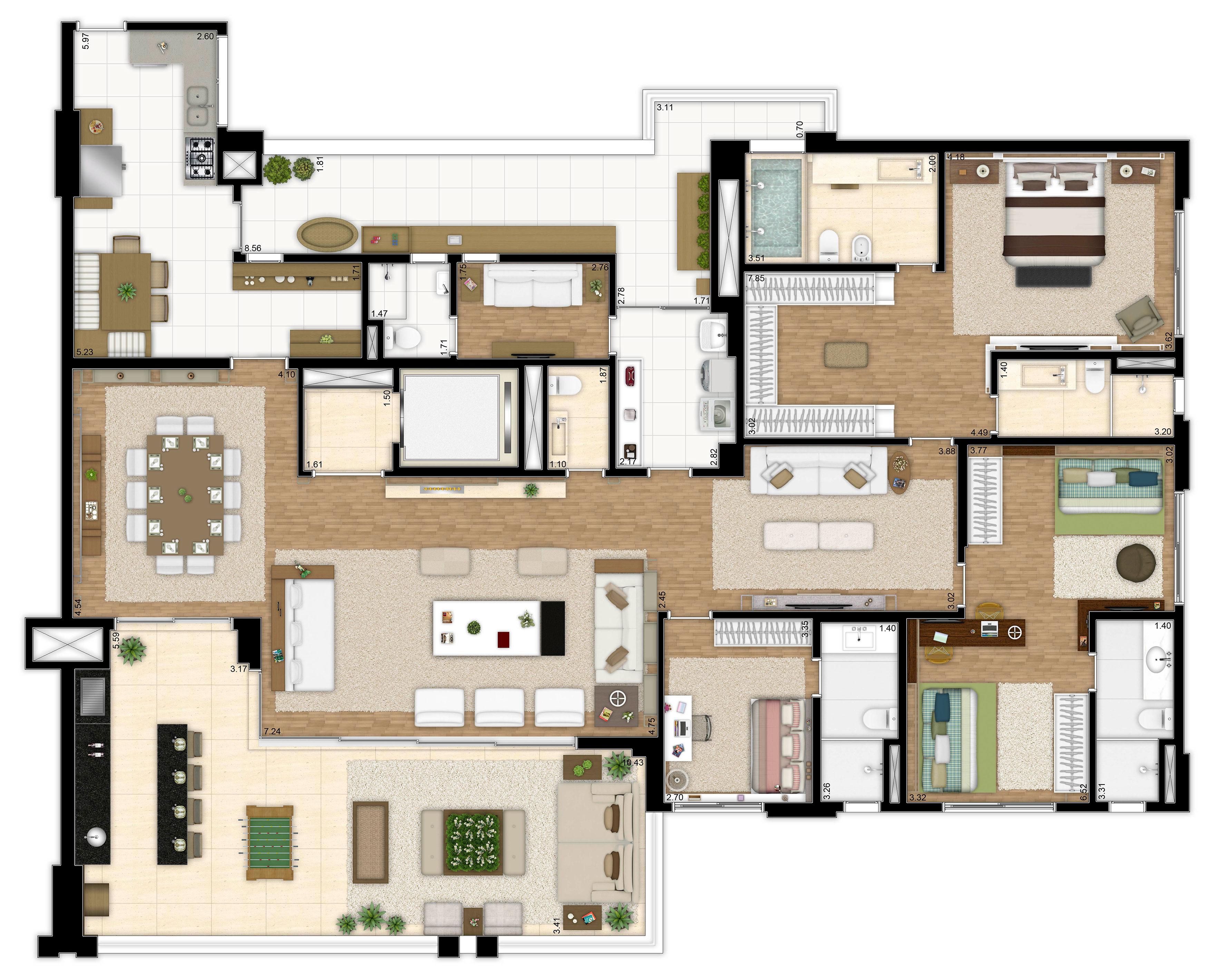 283 m² - 3 suítes
