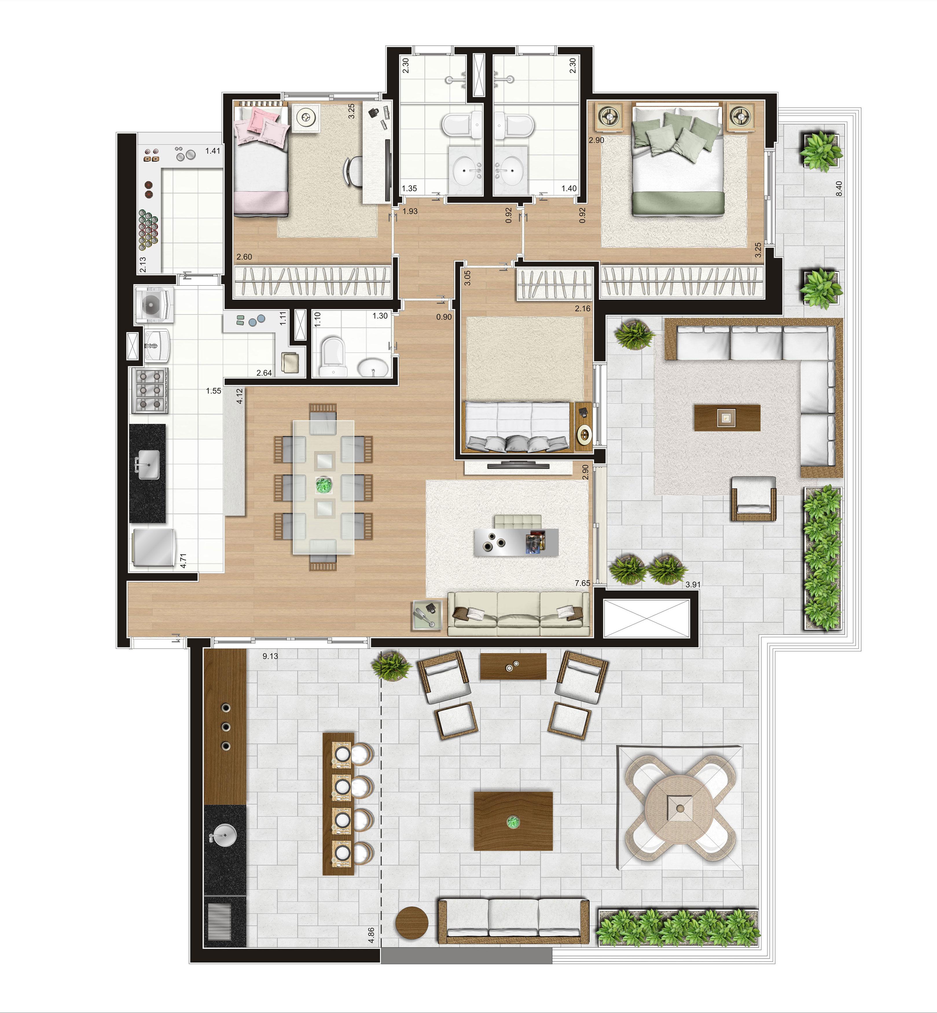 161 m² Penthouse