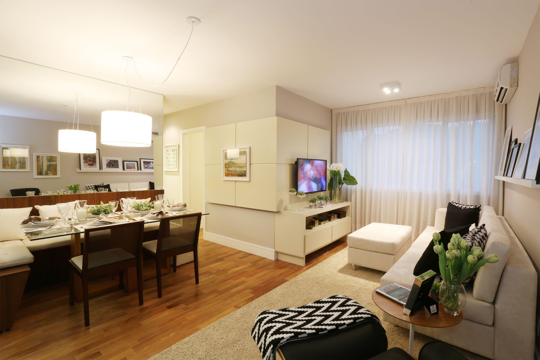 62 m² - Sala de estar e jantar