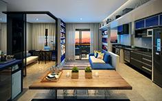 Living - 2 dorms - Line - Tecnisa