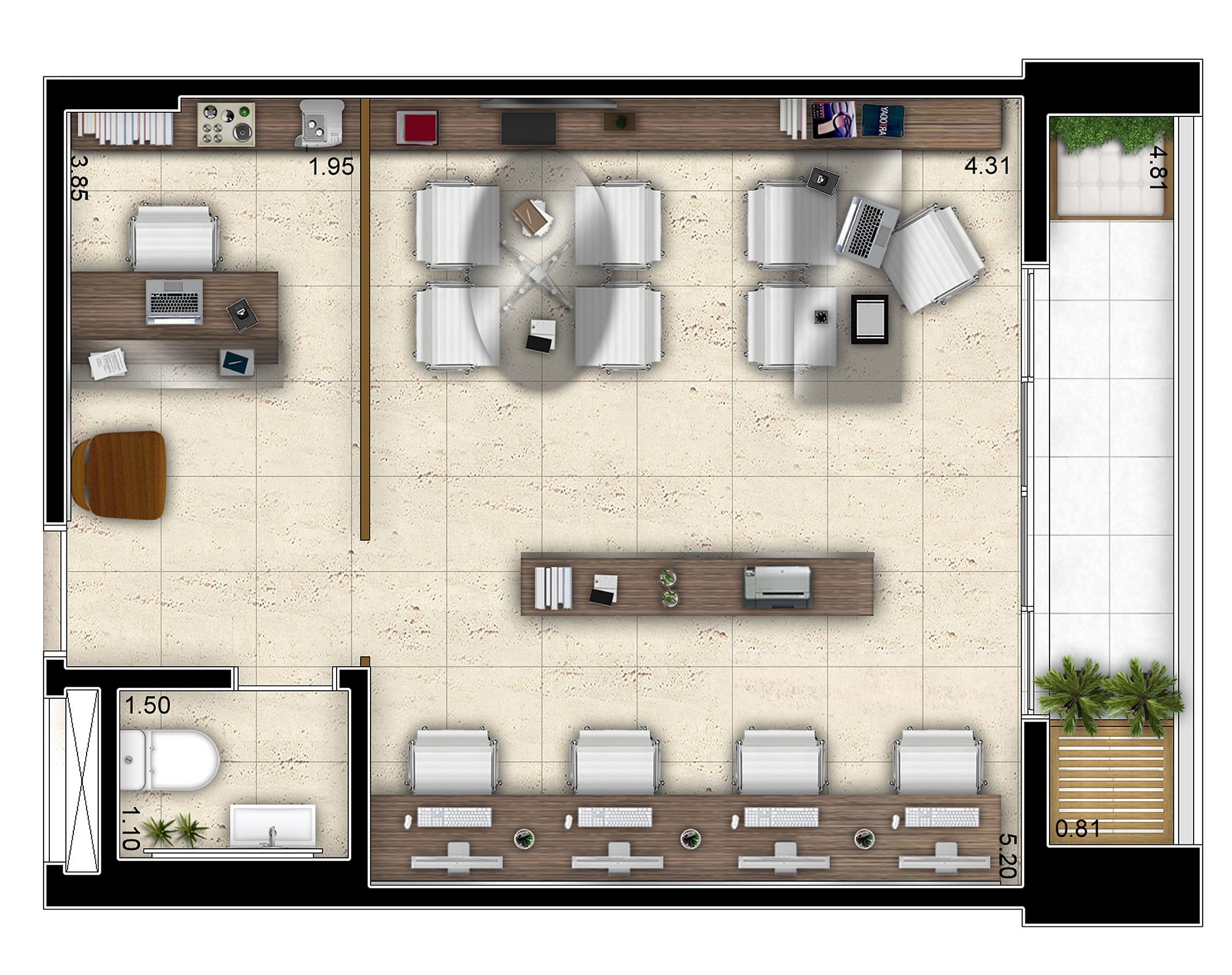 40,71 m² - Sala Comercial