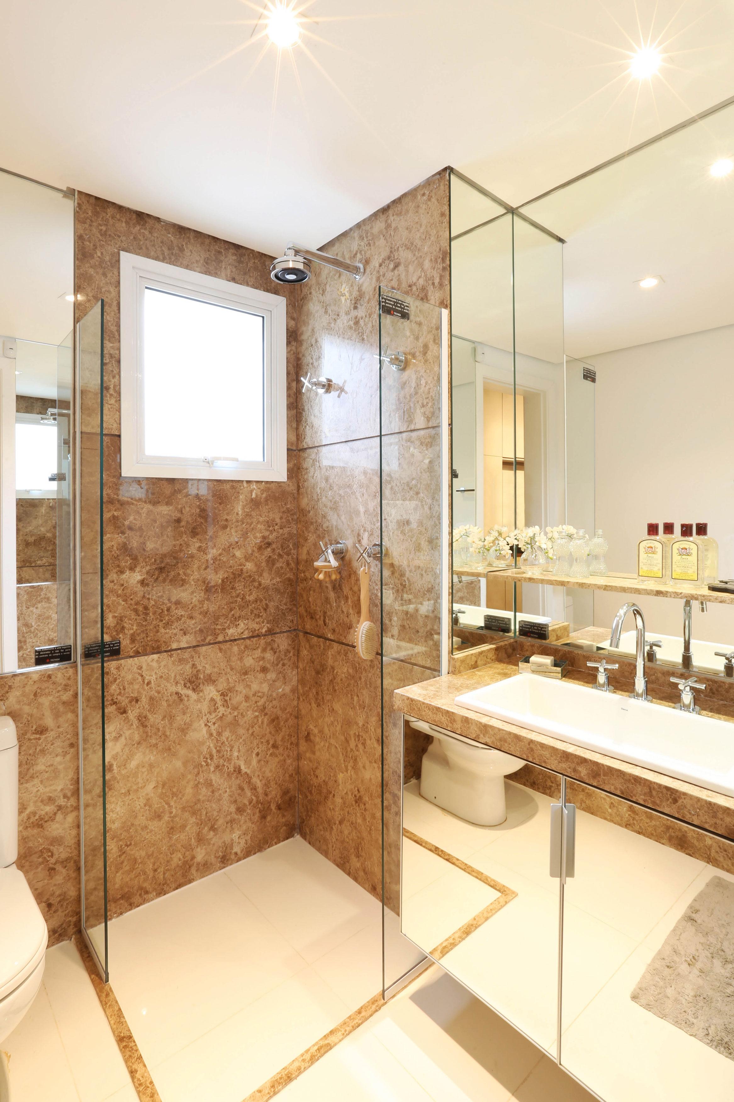 Dolce Villa  Apartamentos no bairro Vila Maria Alta em São Paulo  Tecnisa -> Banheiro Suíte Decorado