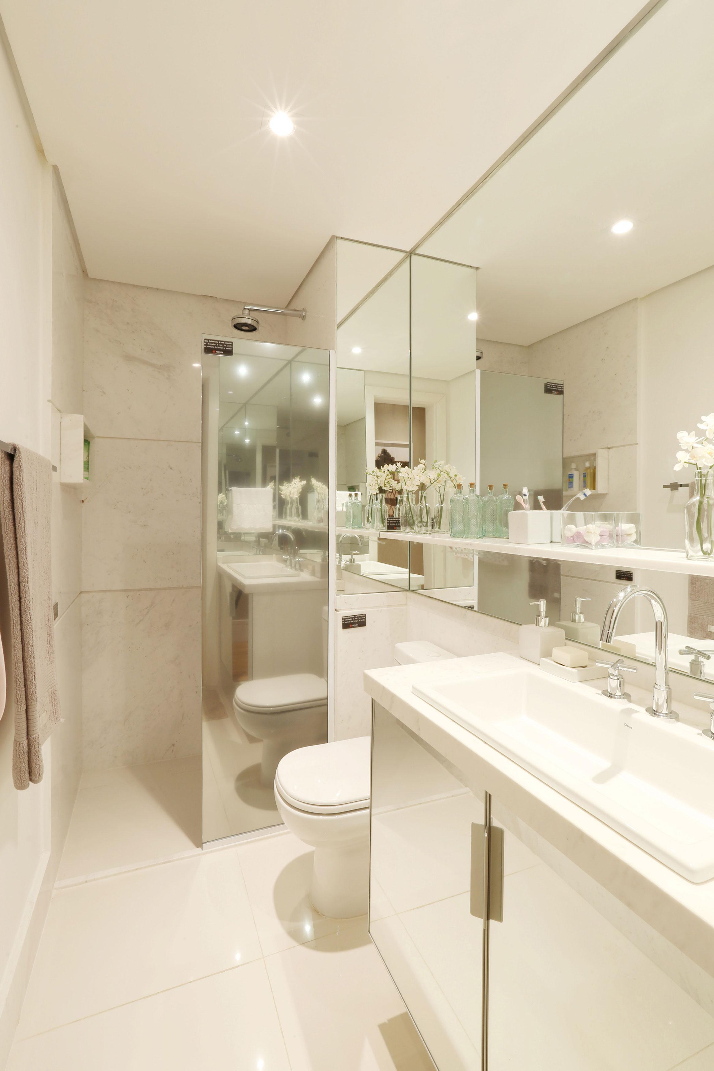Dolce Villa  Apartamentos no bairro Vila Maria Alta em São Paulo  Tecnisa -> Banheiro Decorado Social