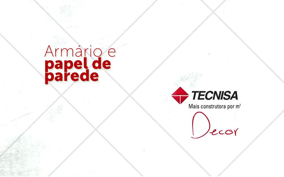 Tecnisa Decor | Quarto de bebê: Armário e papel de parede - Dolce Villa - Tecnisa
