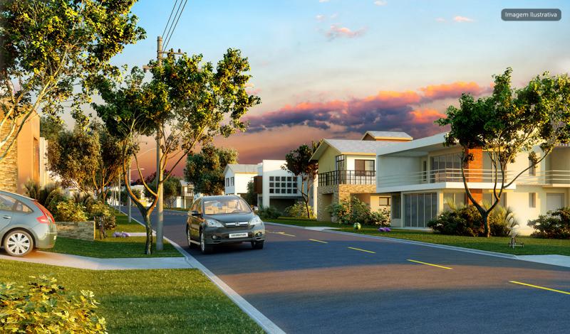 Imagem ilustrativa do condomínio pronto - Sugestões de construção